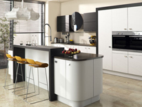 Nuvola Bianco with Tavola Stained Anthracite Kitchens, Gurteen Kitchens, Gurteen, Knock Road, Ballyhaunis, Co. Mayo, Ireland – Feature Image