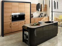 Ultra High Gloss Black with Tavola Oak Kitchens, Gurteen Kitchens, Gurteen, Knock Road, Ballyhaunis, Co. Mayo, Ireland - Featured Image